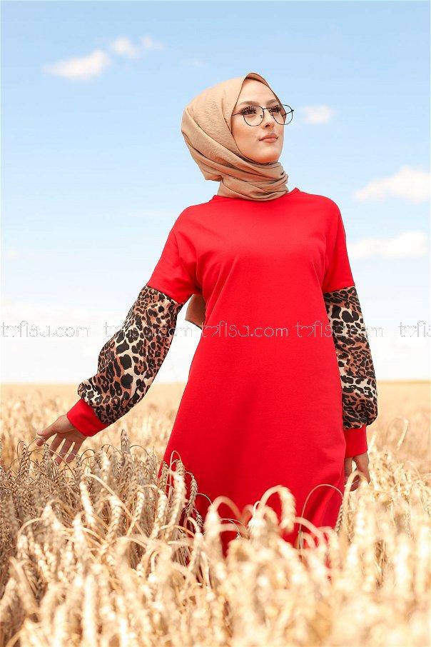 Elbise Kırmızı - 3239