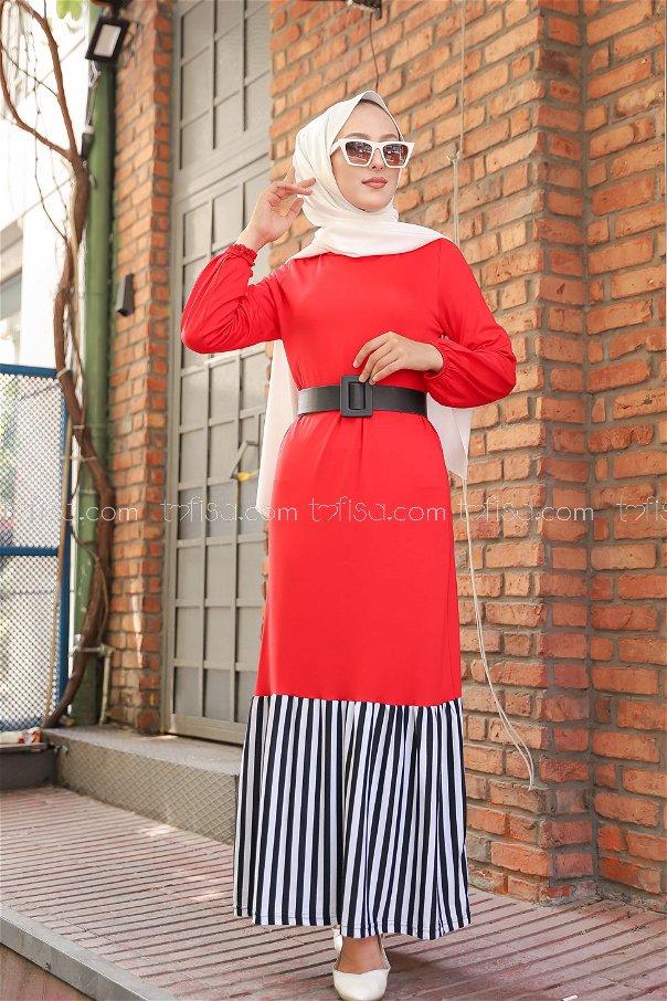 Elbise Kırmızı - 5265