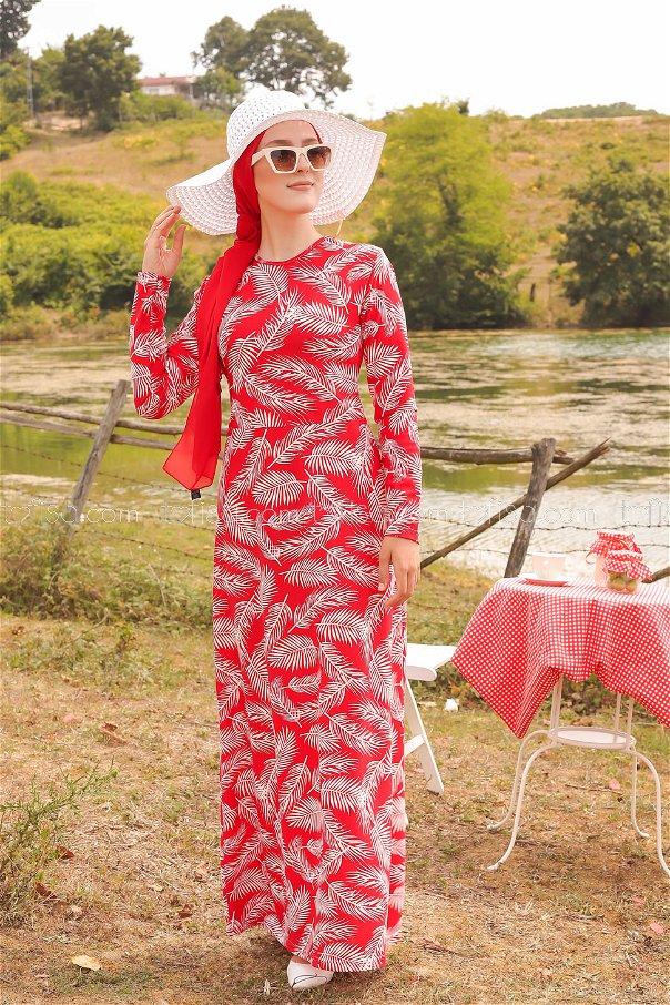 Elbise Kırmızı - 8506