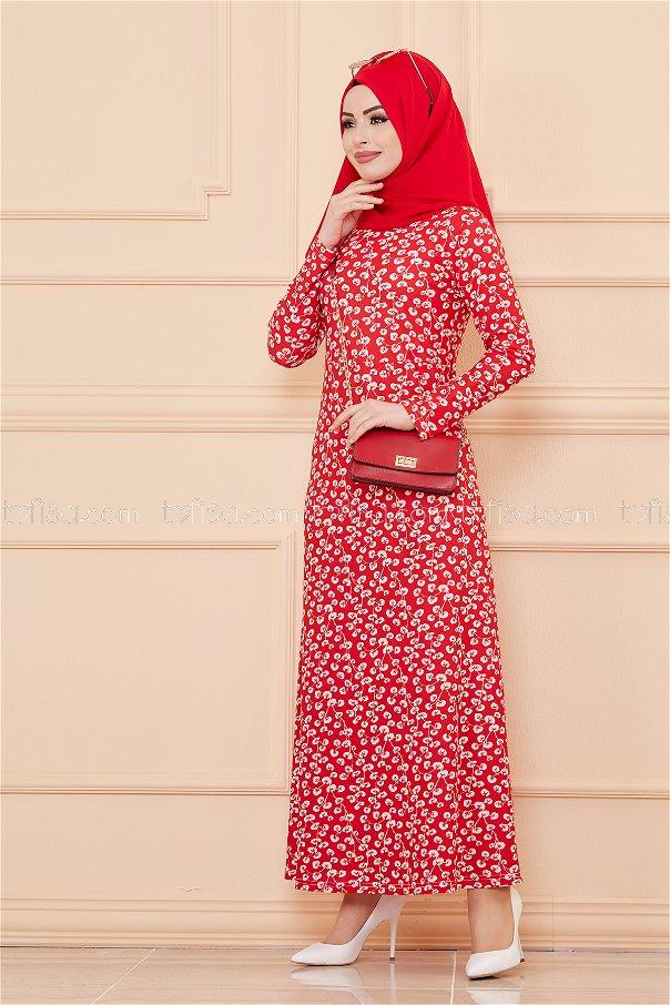 Elbise Kırmızı - 8519
