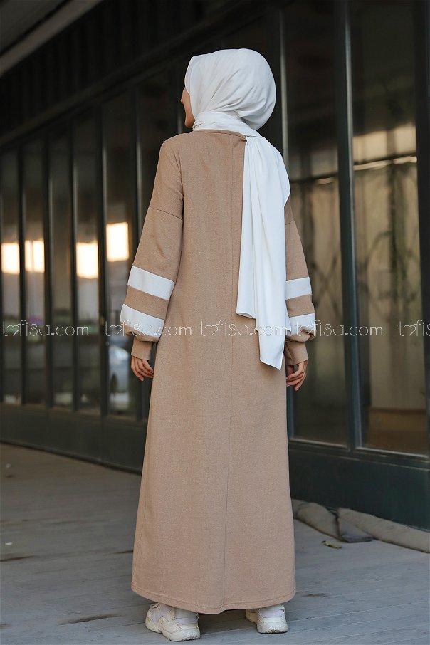 Elbise Koyu Bej - 4134