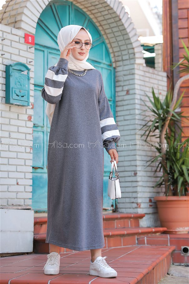 Elbise Koyu.Gri - 4134