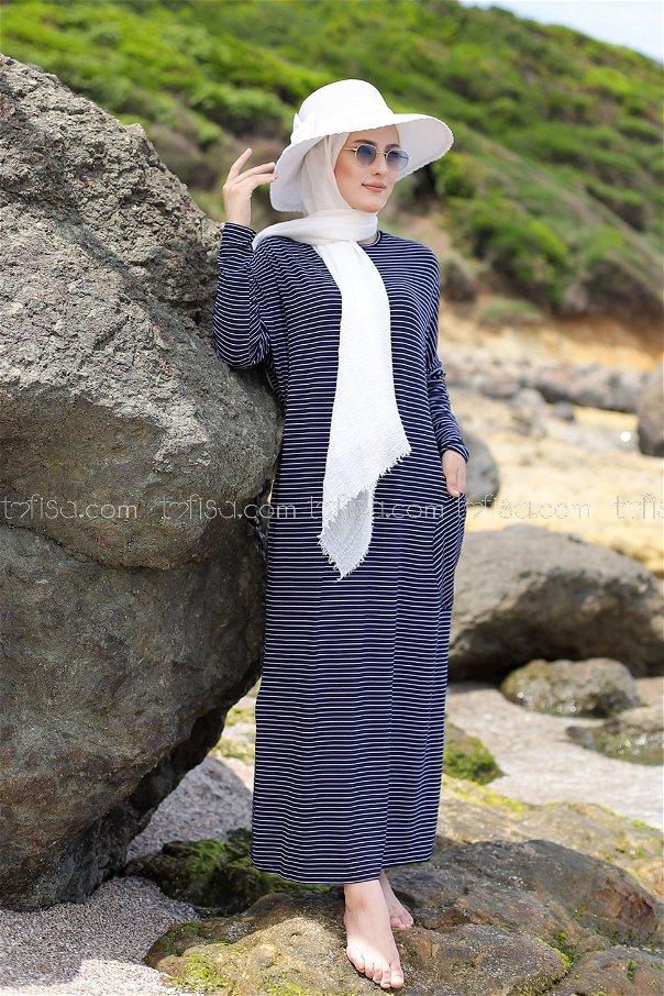 Elbise Lacivert - 5268