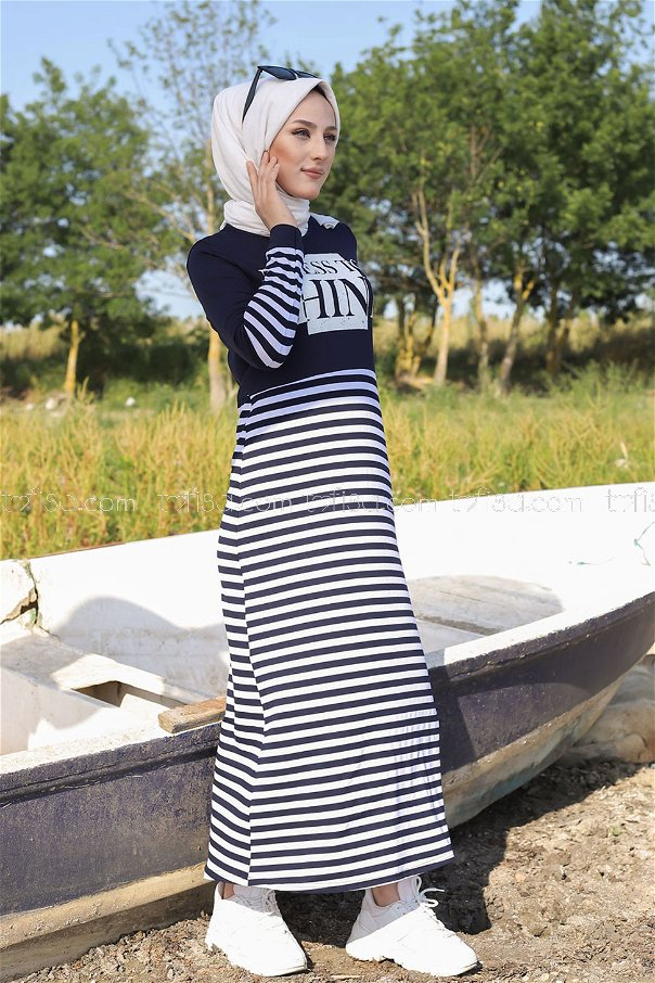 Elbise Lacivert - 5270