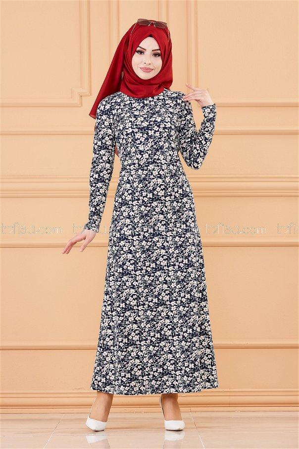 Elbise Lacivert - 8515