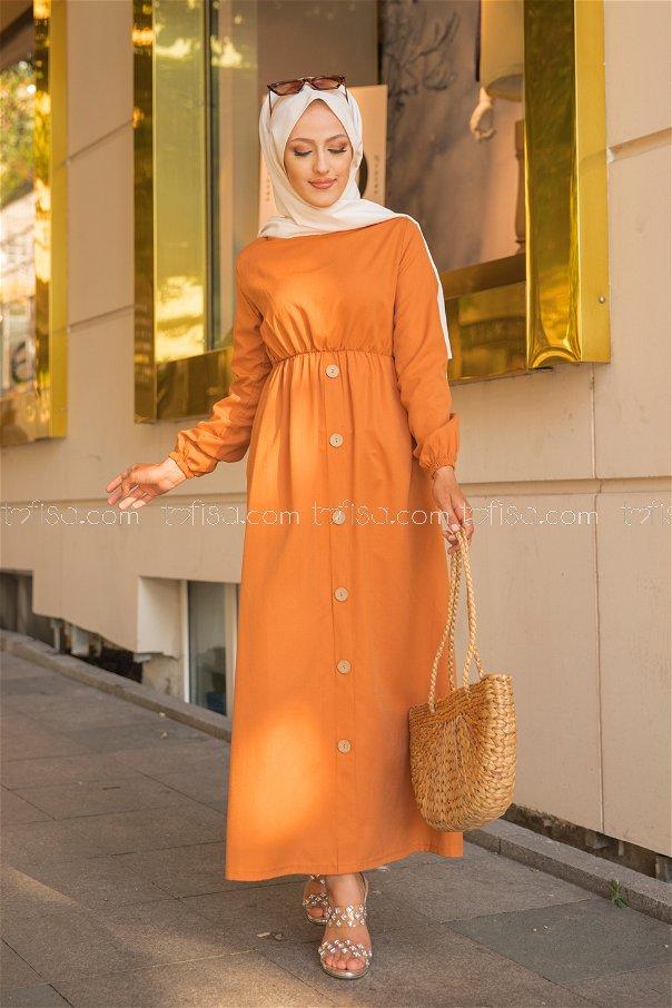 Elbise Oranj - 8369