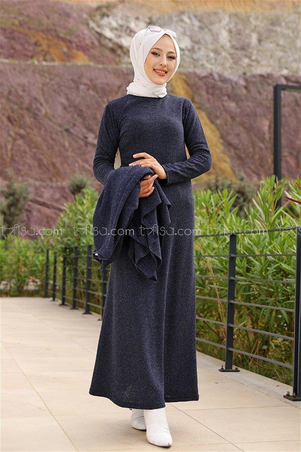 Elbise Panço Lacivert - 5276