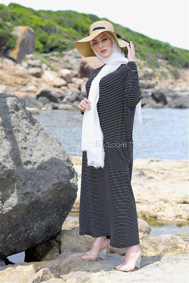 Elbise Siyah - 5268