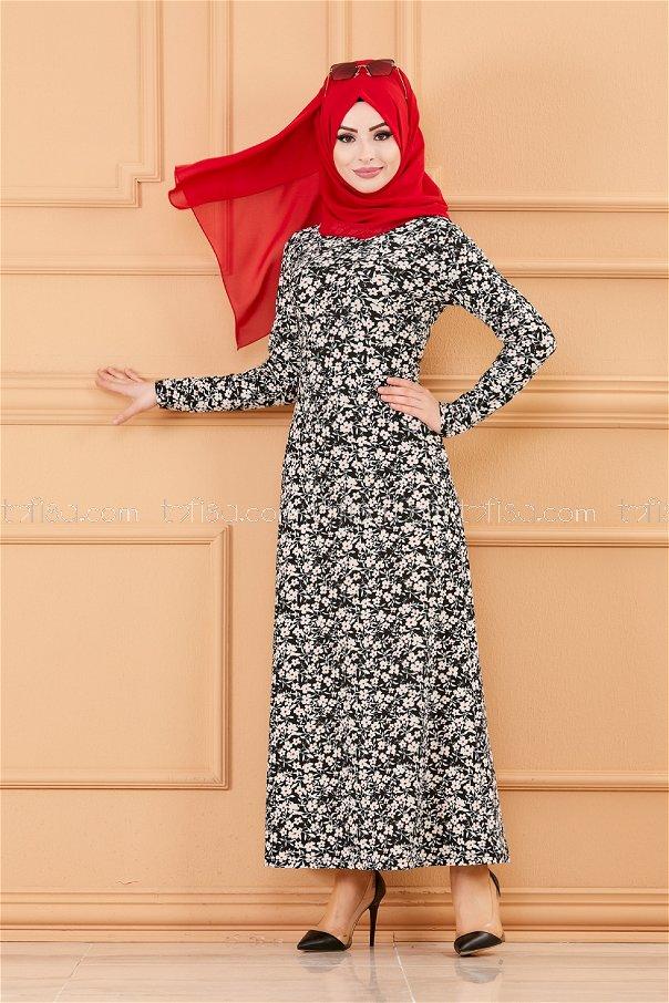 Elbise Siyah - 8515