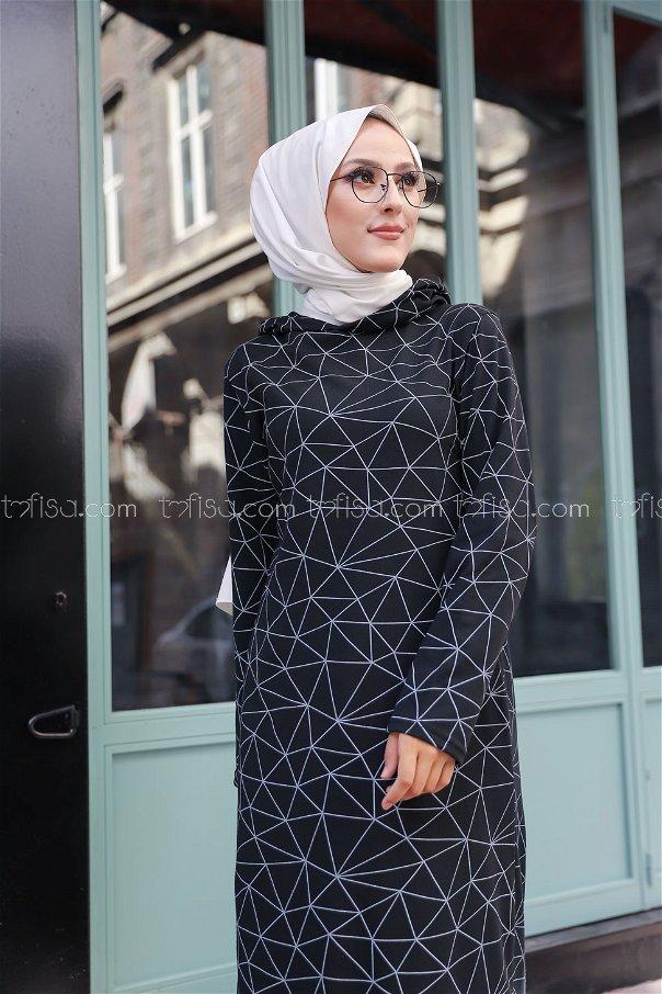 Elbise Siyah - 8556