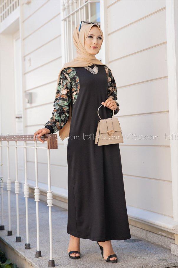 Elbise Siyah - 8577