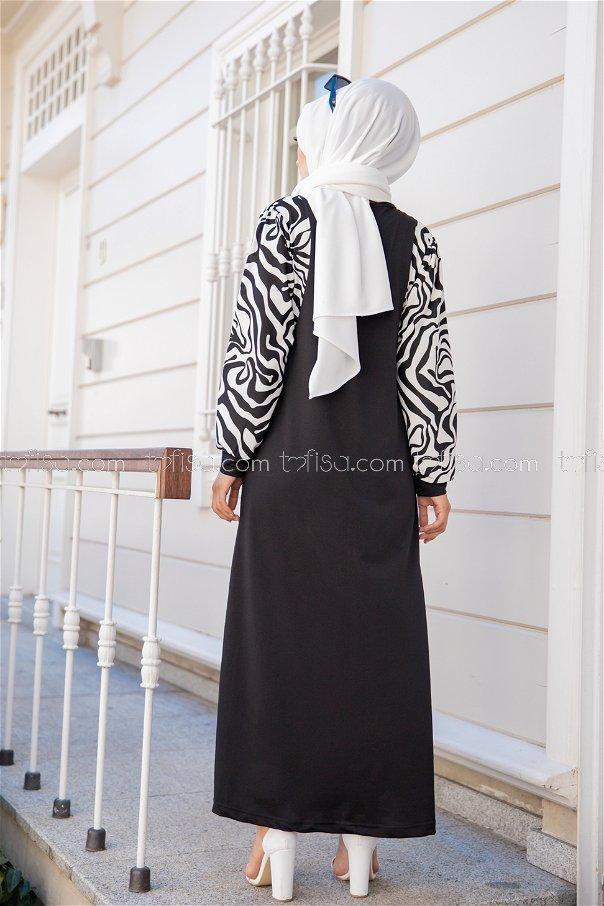 Elbise Siyah - 8578