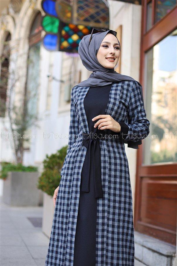 Elbise Siyah Antrasit - 9093