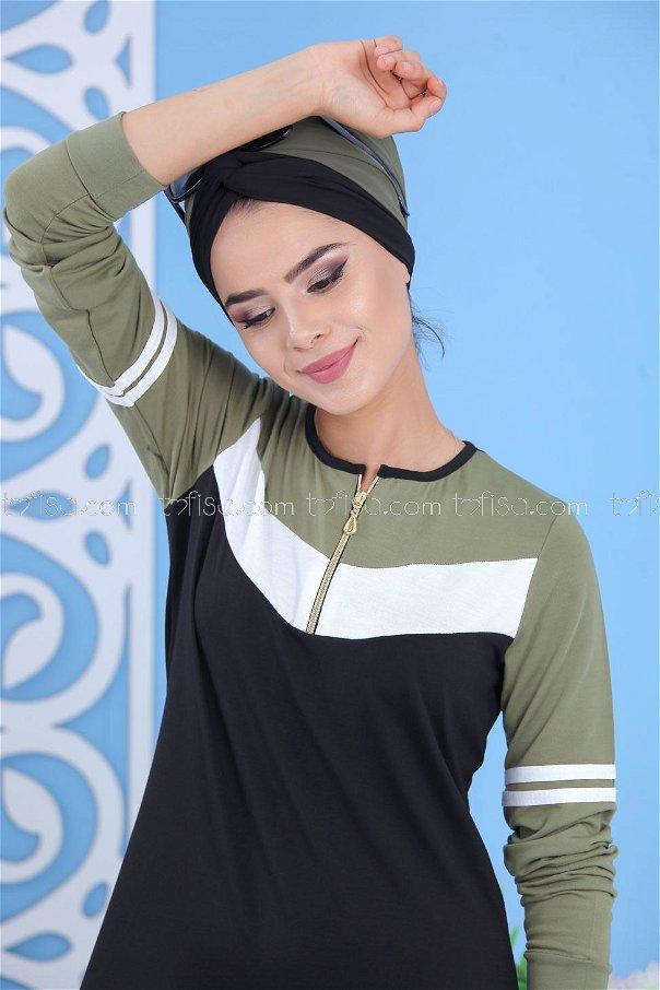 Elbise Siyah Haki - 02 5122