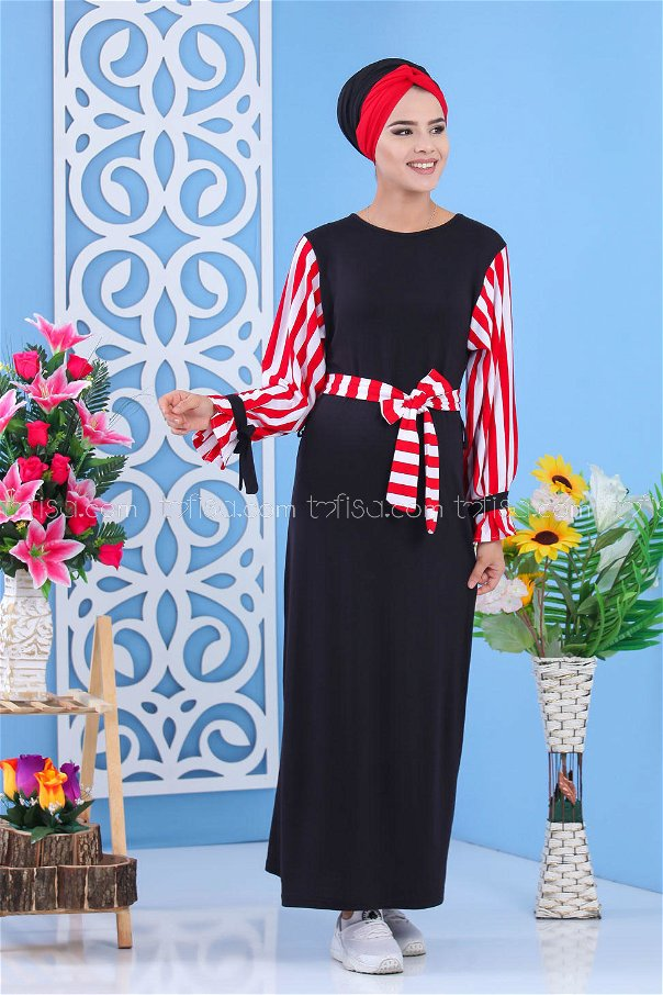 Elbise Siyah Kırmızı - 03 5140