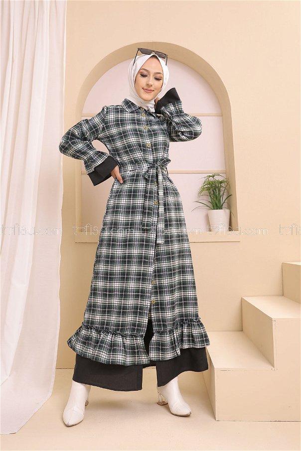 Elbise Siyah Zümrüt - 8639
