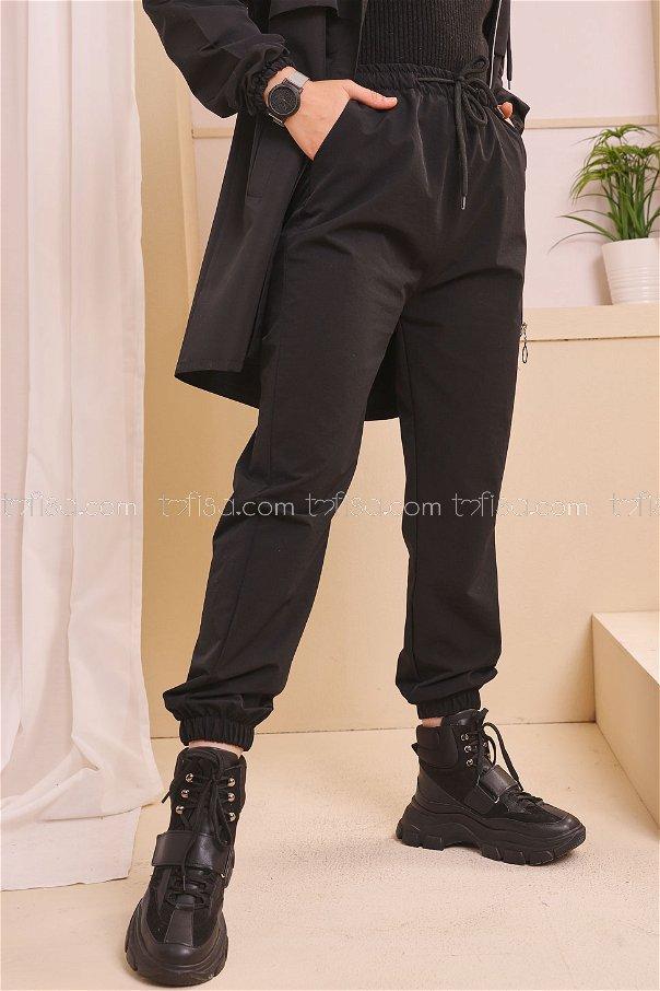 Eşofman Alt Siyah - 8661