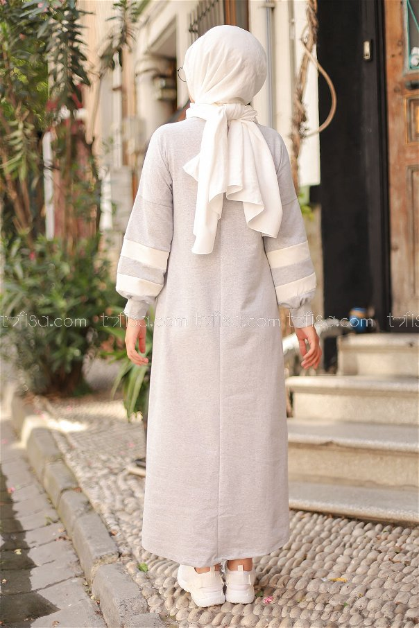 Elbise Gri - 4134