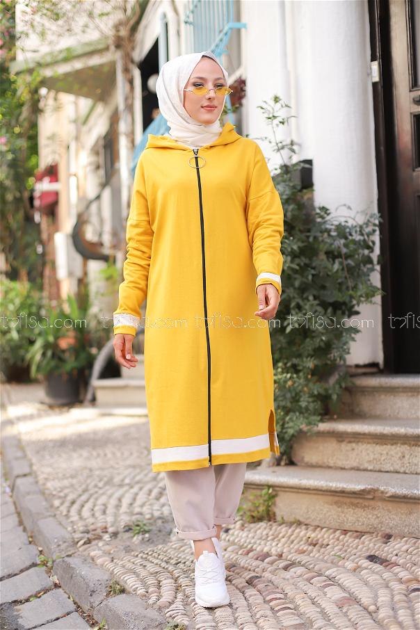 Fermualı Hırka Sarı - 3114