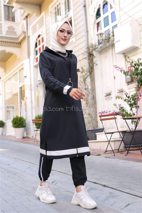 Fermualı Hırka Siyah - 3114