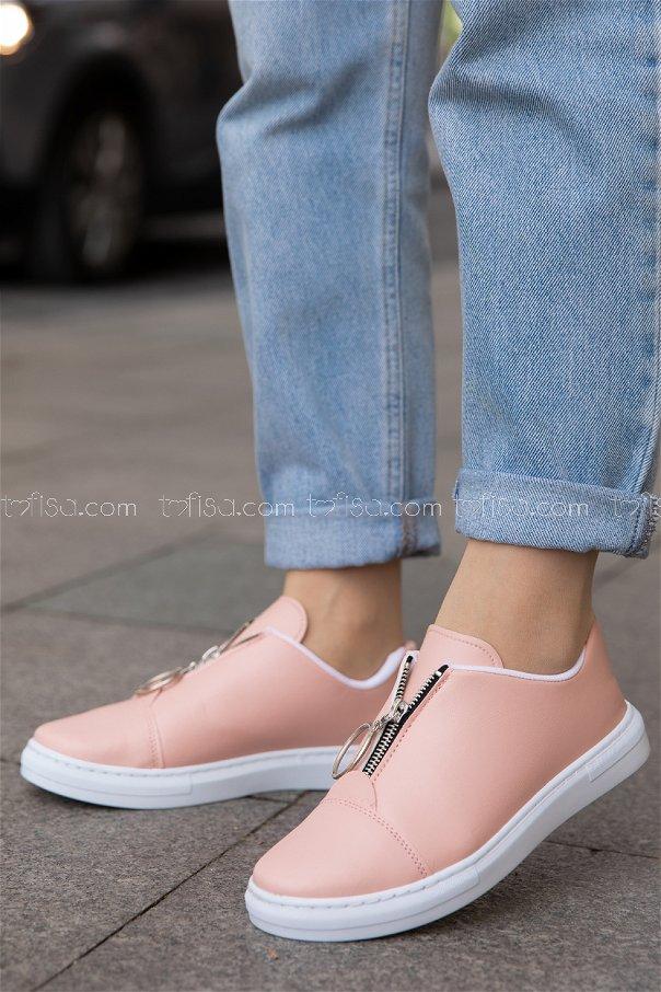 Fermuarlı Ayakkabı PUDRA - 8715
