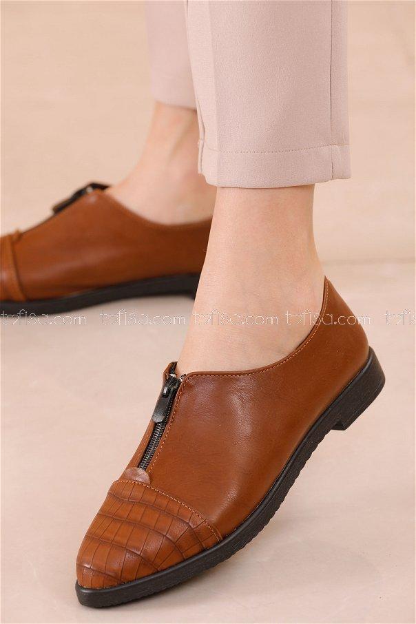 Fermuarlı Ayakkabı TABA - 20623