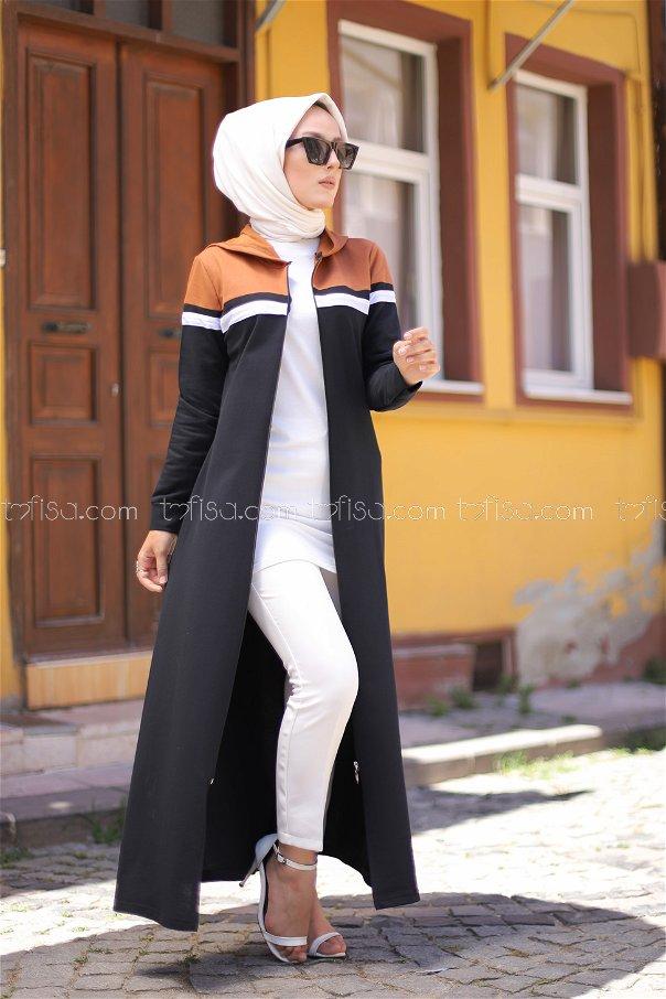 Fermuarlı Ferace Taba - 4132