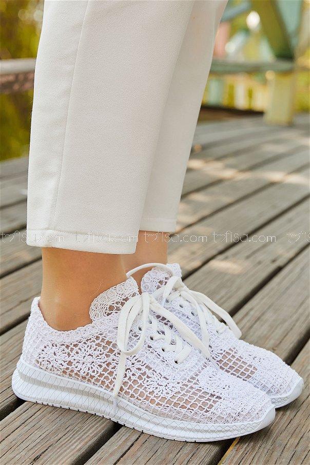 Fılelı Ayakkabı BEYAZ - 20138