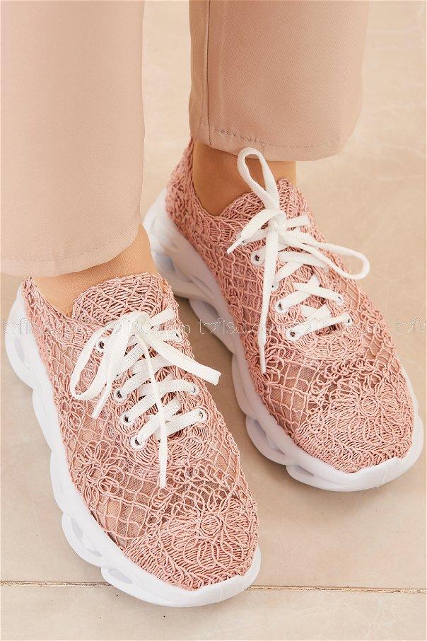 Fılelı Desenlı Ayakkabı PUDRA - 20205