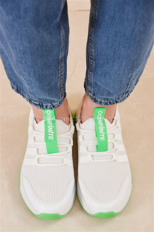 Fılelı Spor Ayakkabı BEYAZ F.YESIL - 20219