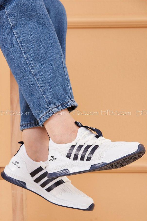 Fılelı Spor Ayakkabı BEYAZ LACIVERT - 20219