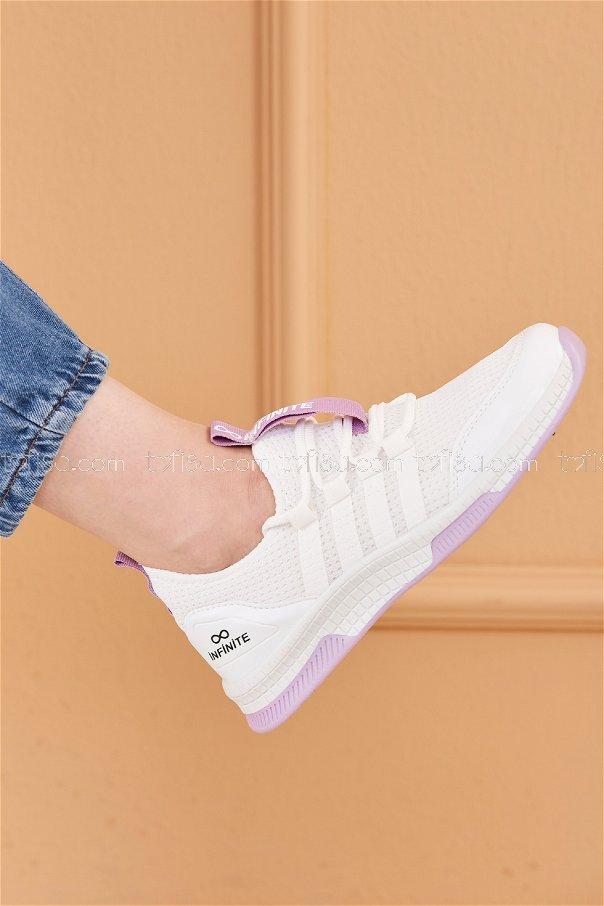 Fılelı Spor Ayakkabı BEYAZ LILA - 20219