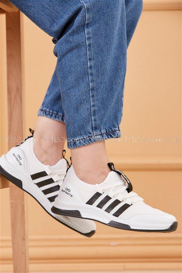Fılelı Spor Ayakkabı BEYAZ SIYAH - 20219