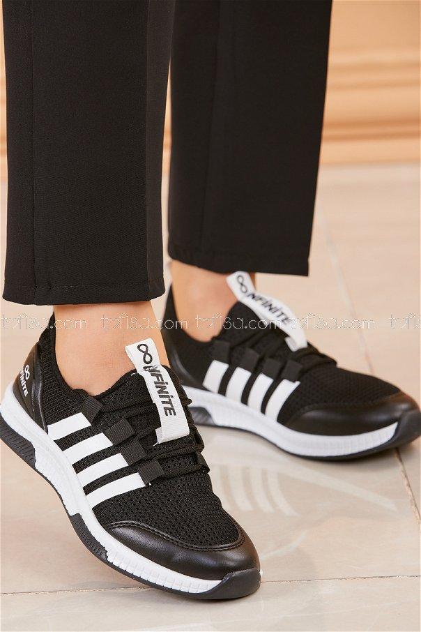 Fılelı Spor Ayakkabı SIYAH BEYAZ - 20219