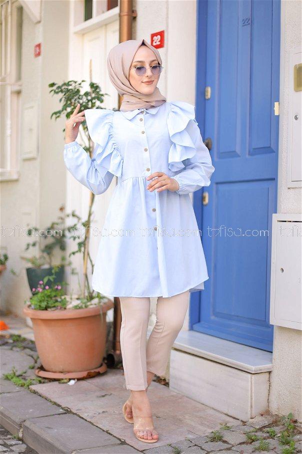Fırfırlı Tunik B.mavi - 3126
