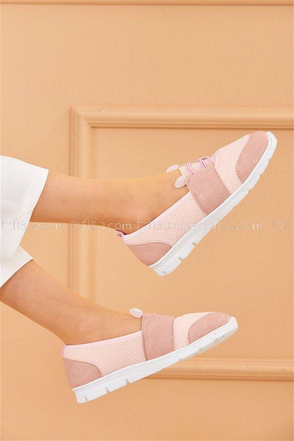 Flıle Ayakkabı PEMBE BEYAZ - 20136