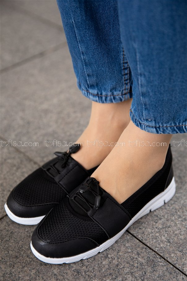Flıle Ayakkabı SIYAH BEYAZ - 20136