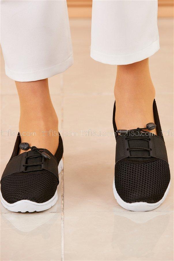 Flıle Ayakkabı SIYAH BEYAZ - 20314