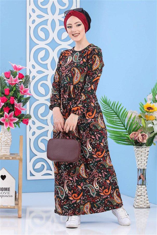 Flower Dress - Black - 02 7264