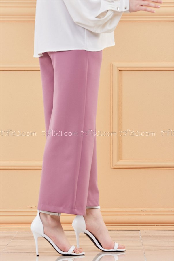 Front Zipper Trousers DARK LILAC - 3525