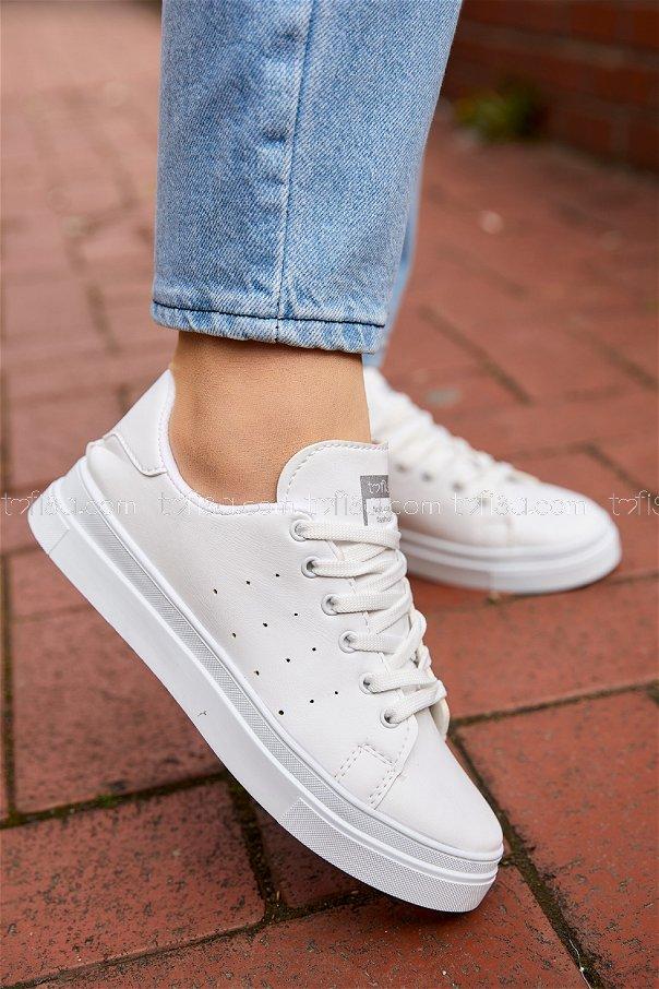 Garnılı Ayakkabı Beyaz - 8711