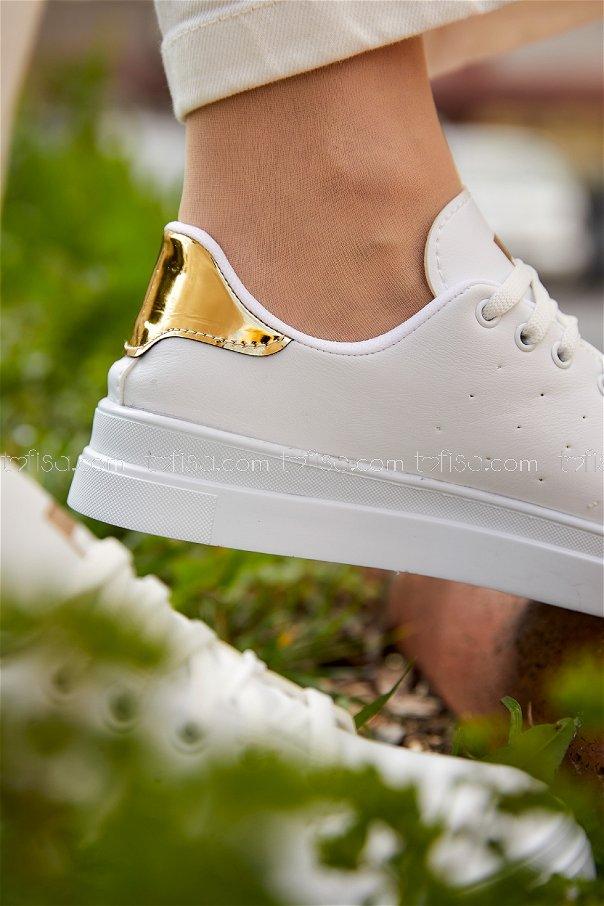 Garnılı Ayakkabı BYZ BEYAZ GOLD - 8711