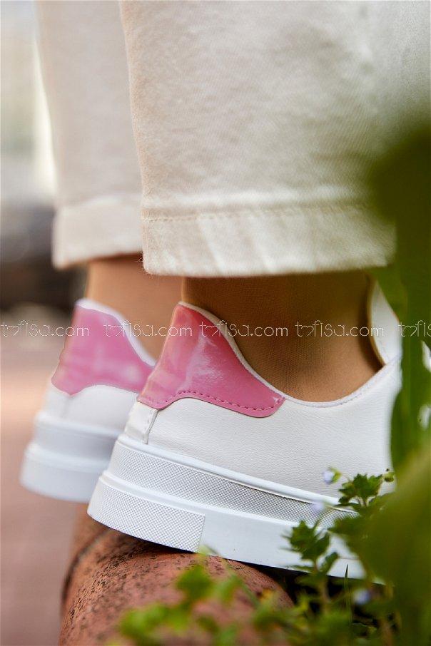 Garnılı Ayakkabı BYZ BEYAZ PEMBE - 8711