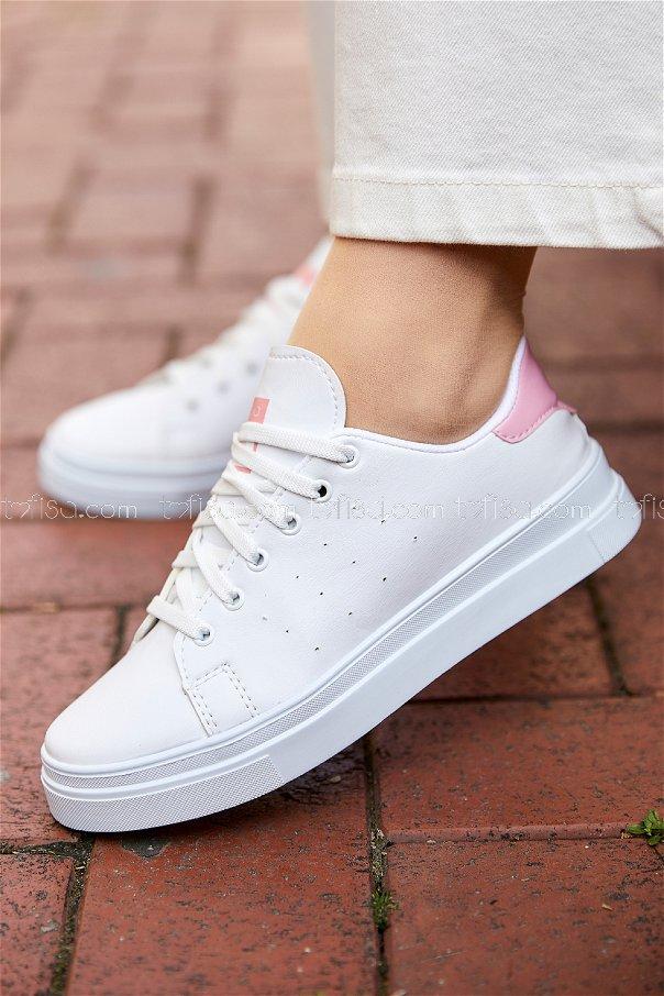 Garnılı Ayakkabı BYZ BEYAZ PUDRA - 8711