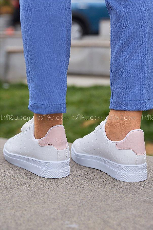 Garnılı Ayakkabı Pudra - 8711