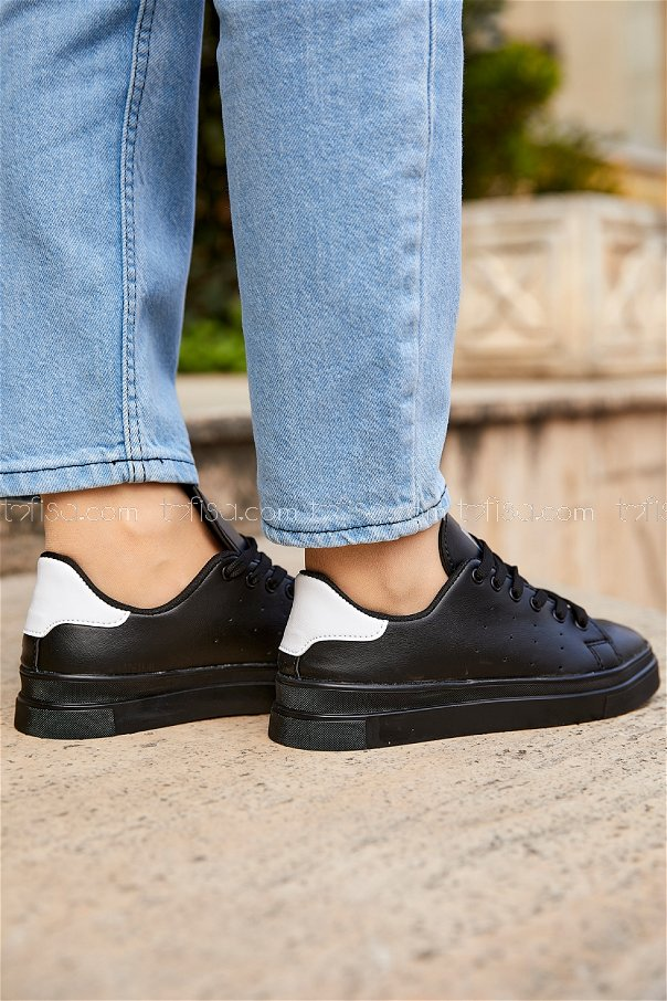 Garnılı Ayakkabı SYH SIYAH BEYAZ - 8711