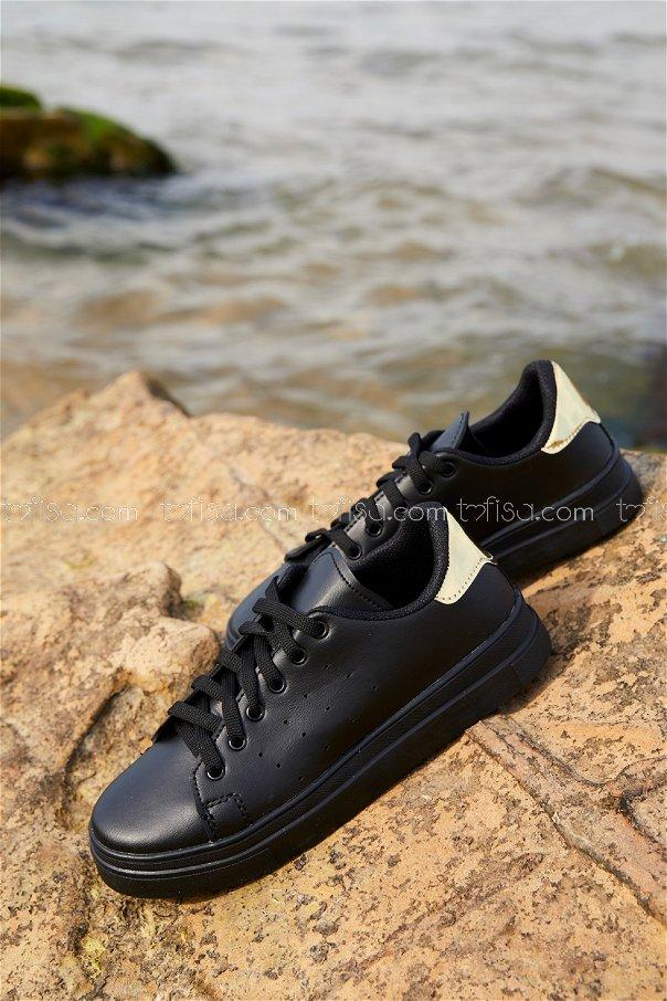 Garnılı Ayakkabı SYH SIYAH GOLD - 8711