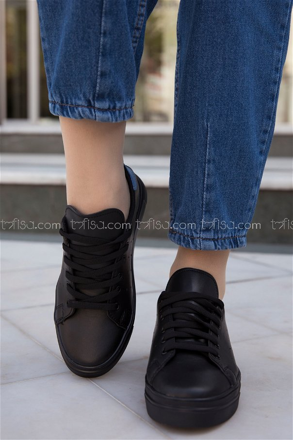 Garnılı Ayakkabı SYH SIYAH MAVI - 8711