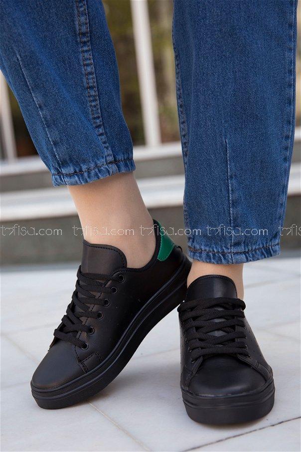 Garnılı Ayakkabı SYH SIYAH YESIL - 8711