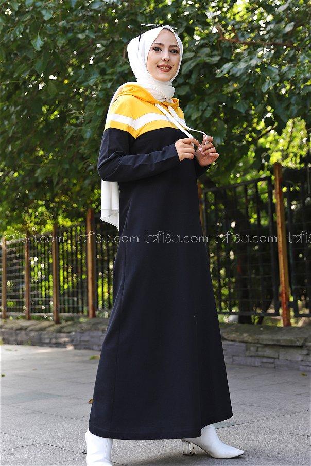 Garnili Elbise Sarı - 3090